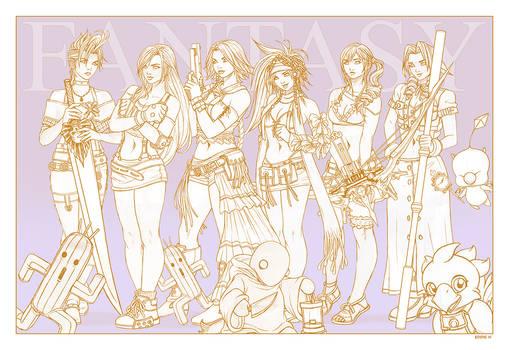 It's all a Fantasy - Line art by EddieHolly