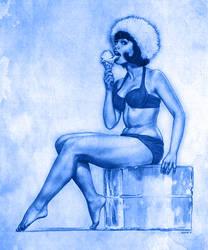 Drawingjam 19 - Yvonne Craig by EddieHolly