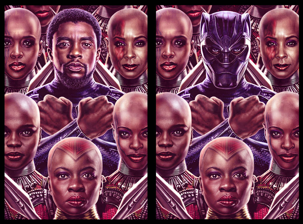 Black Panther and his Dora Milaje