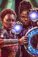 Nakia and Shuri - Black Panther by EddieHolly