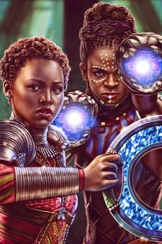 Nakia and Shuri - Black Panther