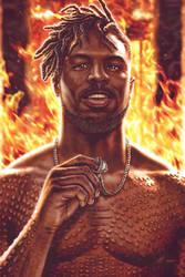 Erik Killmonger - Burn it All by EddieHolly