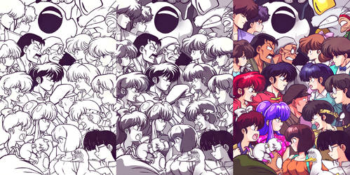 Ranma12 Battle by EddieHolly