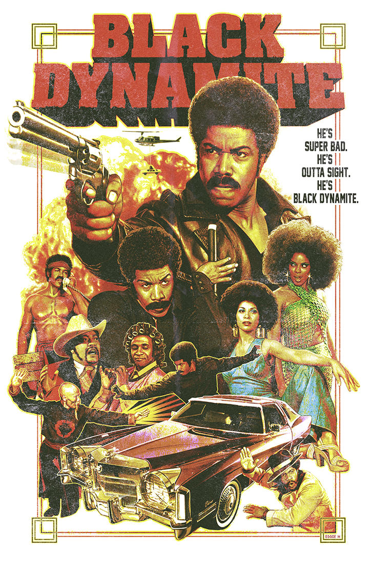 Black Dynamite Poster by EddieHolly