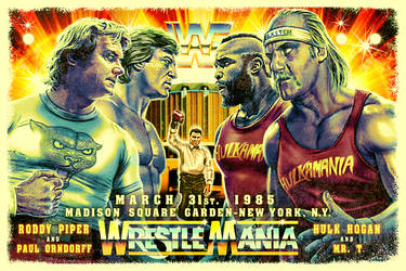 Wrestlemania 1985 Poster