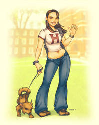 Natalie goes to school