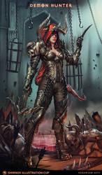 Demon Hunter - Diablo  - Smirnov Illustration Cup by HanawaroArts