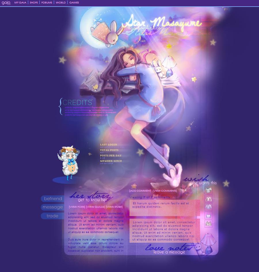 Gaia Profile : StarMasayume