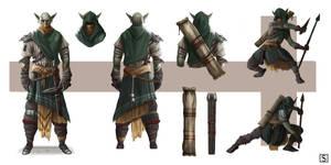 Goblin Marksman - Character Concept by SimonValev