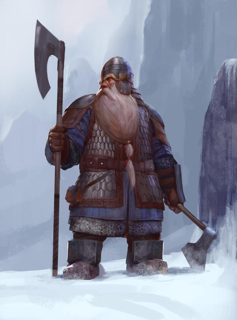Dwarf warrior by Mischeviouslittleelf