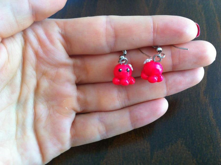 Cute Octopus Logo Cute Little Octopus Earrings