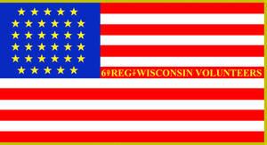 6th Wisconsin Volunteer Infantry Regiment Flag