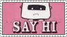 Say Hi Stamp by arizona-tapir