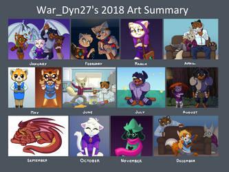 My Art Summary 2018 by War-Dyn27