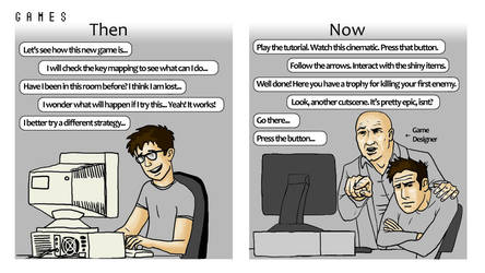 Comic - Games then and now