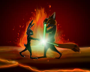 Star Wars Crossover: Jack vs Nick by BlueDragon1993