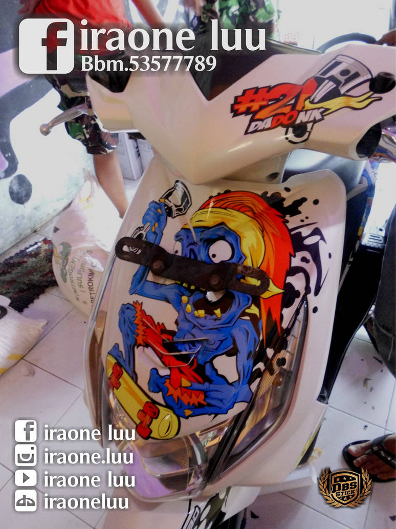 Cutting sticker honda beat by iraoneluu
