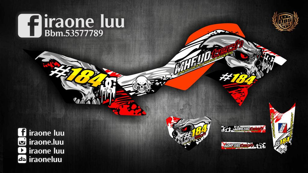 Iraoneluu 0 0 desain cutting sticker new dtracker 150 kawasaki by iraoneluu