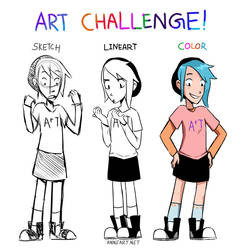 My Sketch2Color Art Challenge