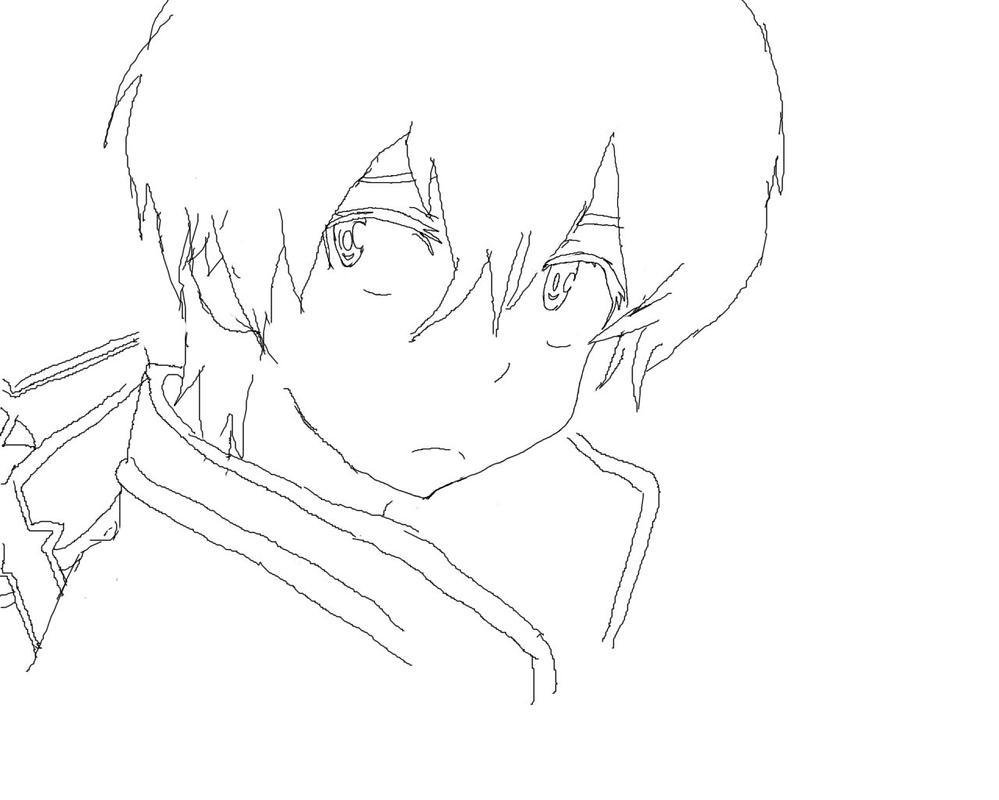 Kirito Lineart : Kirito line art by antonsmelo on deviantart