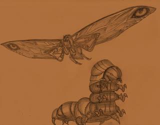 Mothra, circa 2019 by Adiraiju