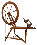 antique spinning wheel PNG