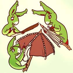 Frog-umbrella  by brightlyblue