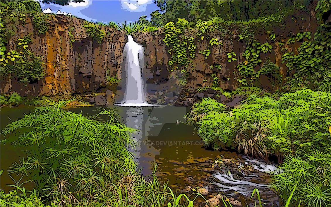 Secret Garden Waterfalls Painting By MistyFX ...