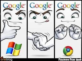 microsoft+google-google chrome