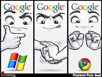 microsoft+google-google chrome by HiOnLife27