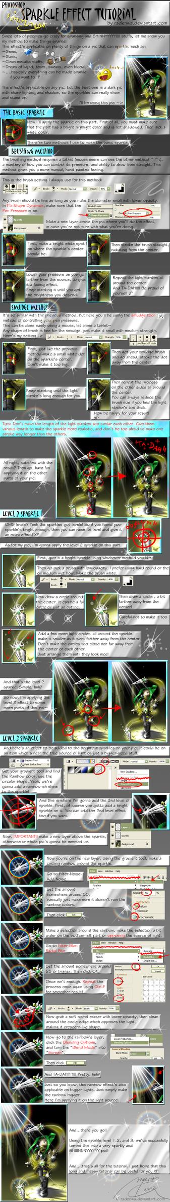 PS Sparkle Effect Tutorial by RadenWA