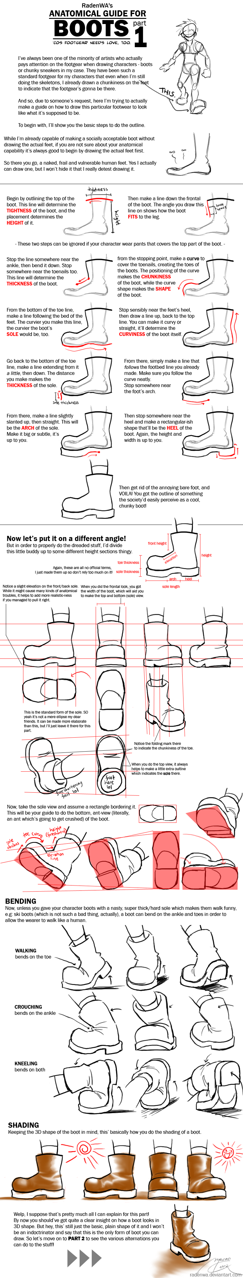WA's BOOT Anatomy Tutorial Pt1 by RadenWA