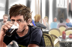 Lazy College Senior quickpainted by RadenWA