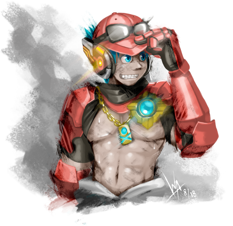 Greasy Mechanic Guy by RadenWA