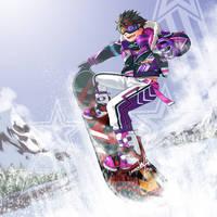 Snowboarding Tiger! by RadenWA