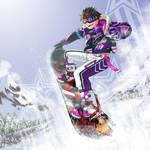 Snowboarding Tiger!