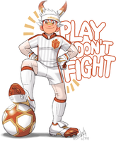 Scorbunny -FOOTBALL- Gijinka by RadenWA