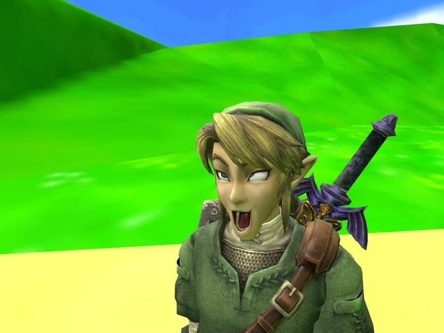 Funny link zelda face