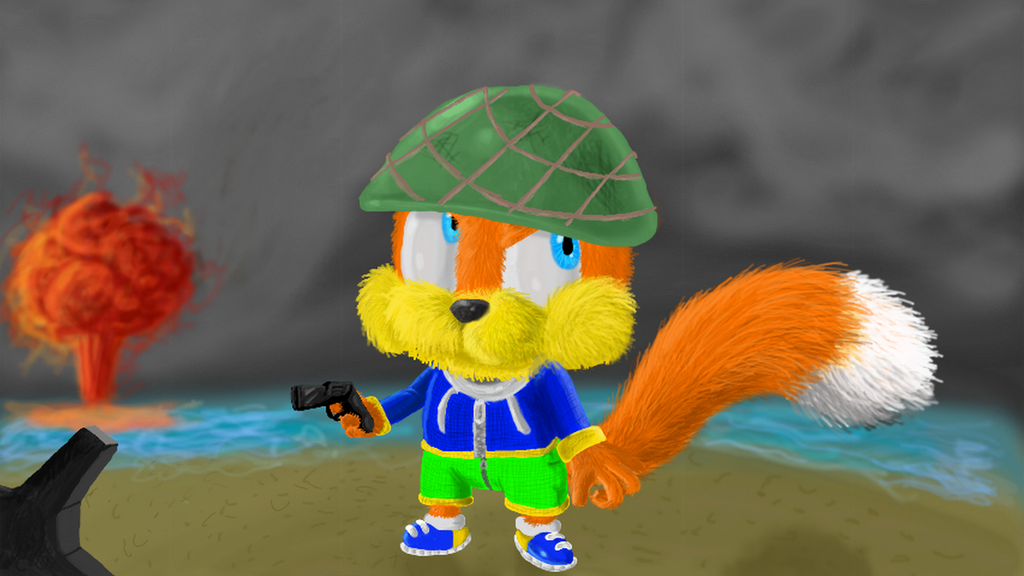 conkers bad 3d day by spongicx on deviantart