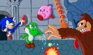 Super Smash Bros Castle Brawl Shaded by SpongicX