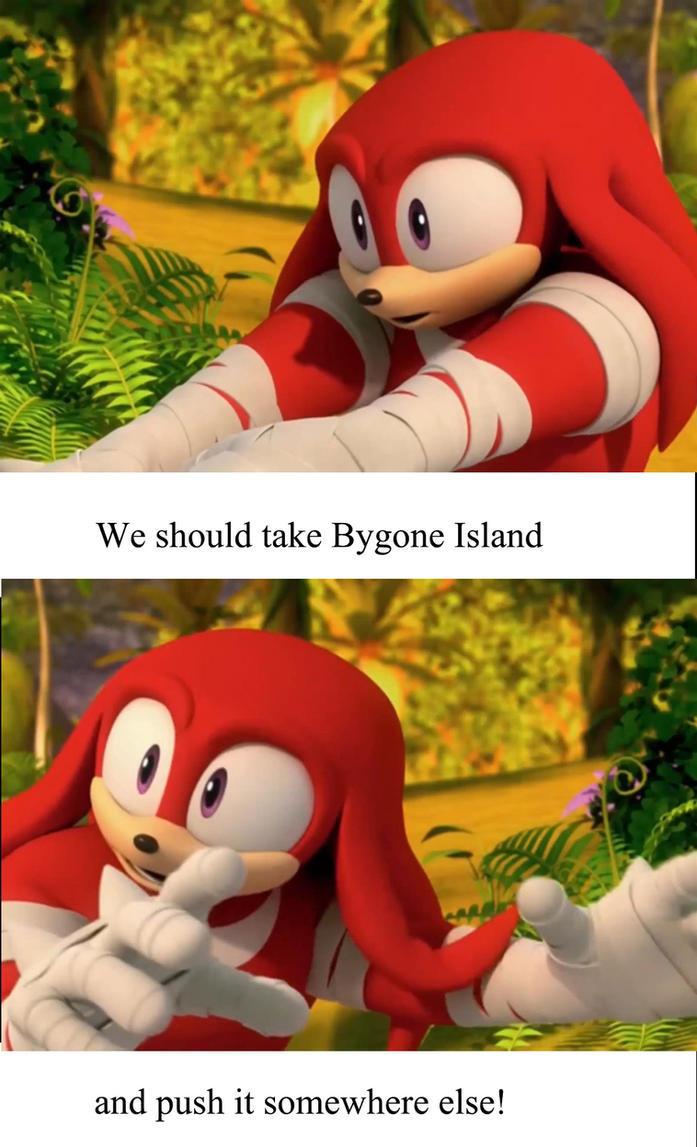 Push Bygone Island Somewhere Else by SpongicX
