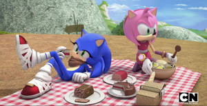 Sonic and Amy Picnic Face Swap