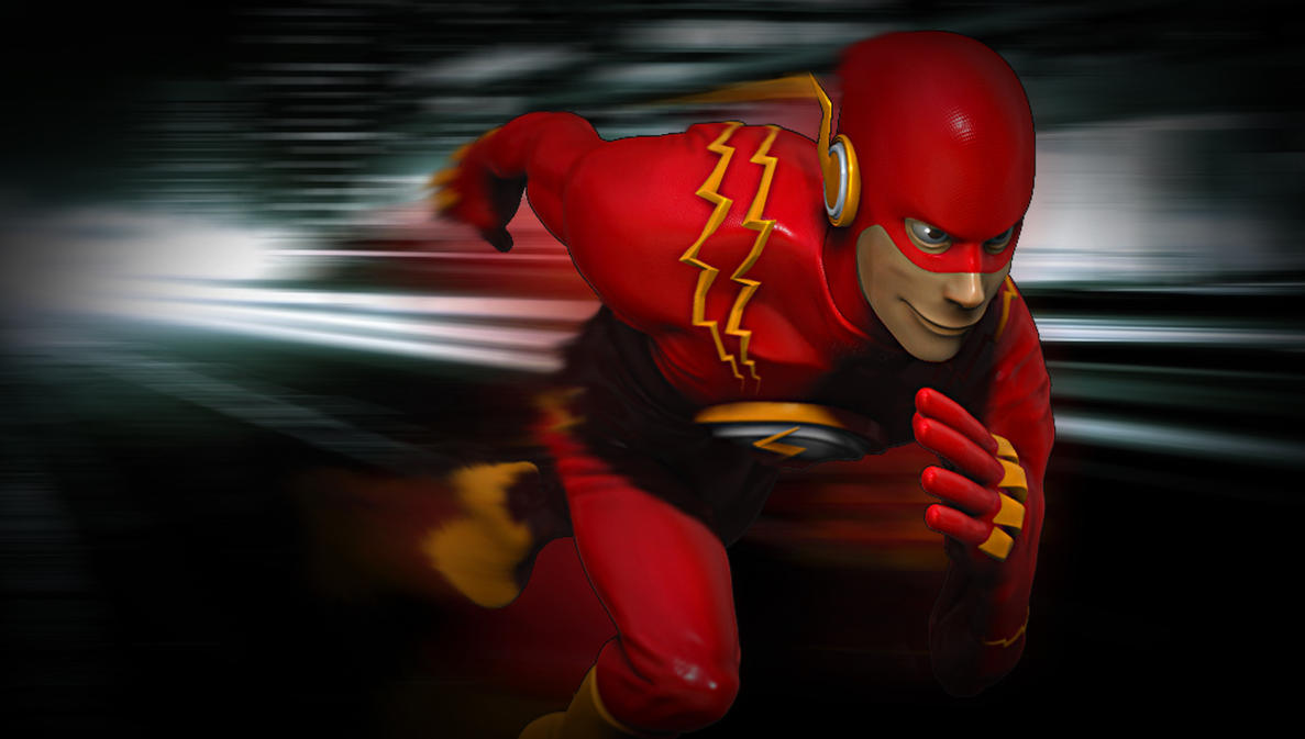 fan art: THE FLASH  Faster than light by boishred