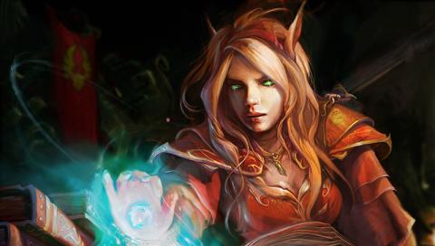 WoW - Blood Elf Priestess by KaMoDiAn