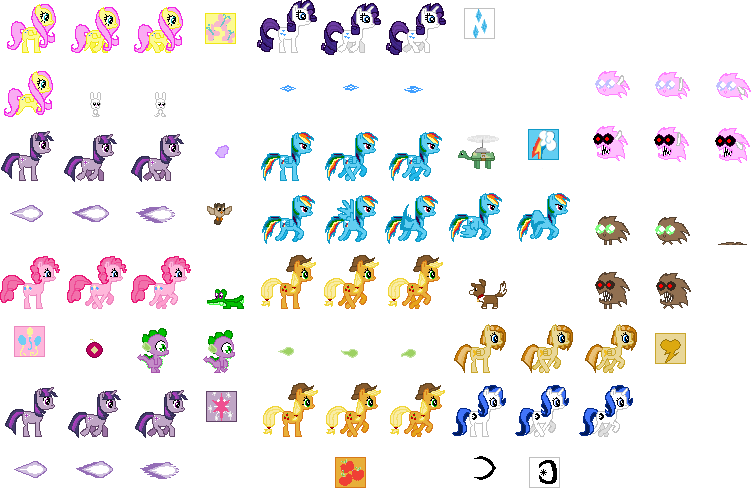 Church's Art Collection Mlp_sprite_collection_by_churchcrusade-d4r4lj7