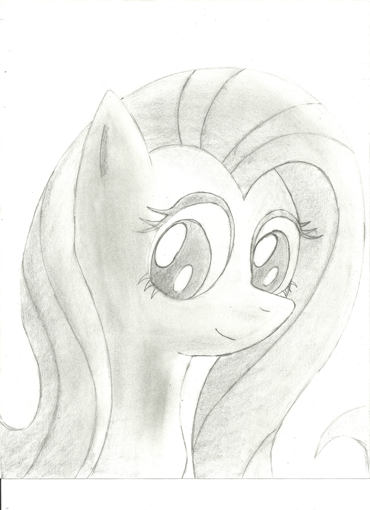 Church's Art Collection - Page 2 Fluttershy_portrait_by_churchcrusade-d4tcayi