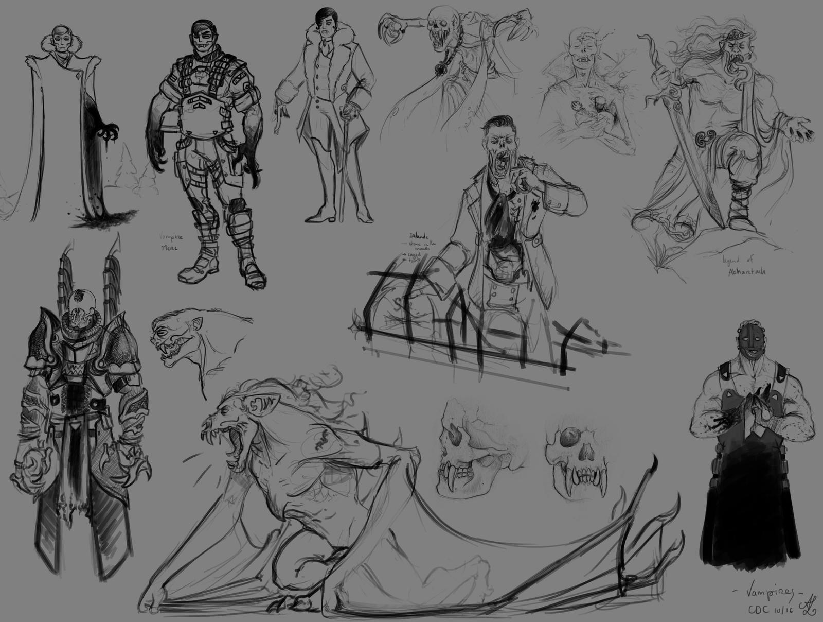 Character Design Challenge Vampire : Character design challenge vampire concepts by