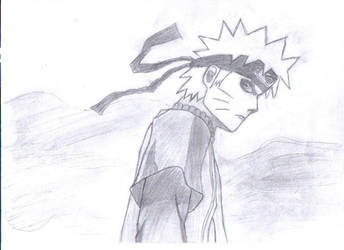 Naruto Sage Mode drawing by Beyourselfmert