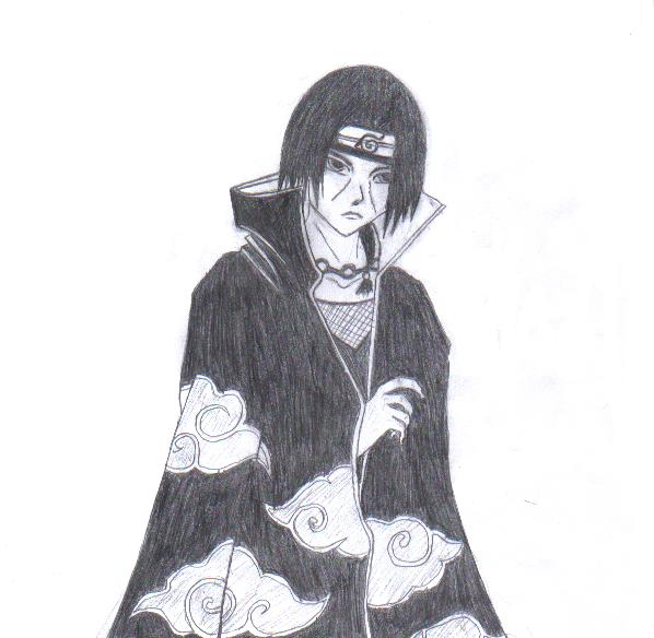 itachi uchiha drawing by beyourselfmert