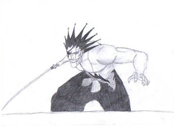 Kenpachi Zaraki drawing by Beyourselfmert